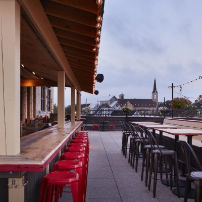 Outdoor seating and bar top