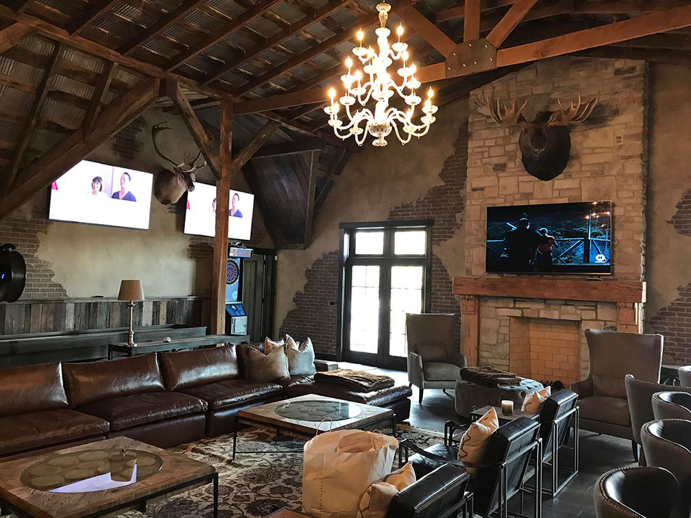 Sitting room in the remodeled barn