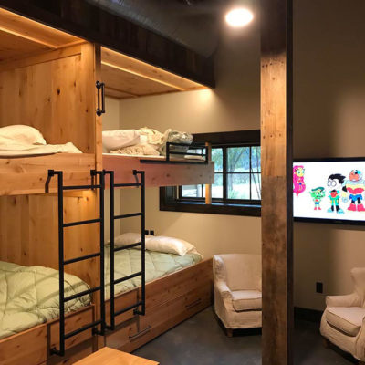 Kid's bedroom with double bunks
