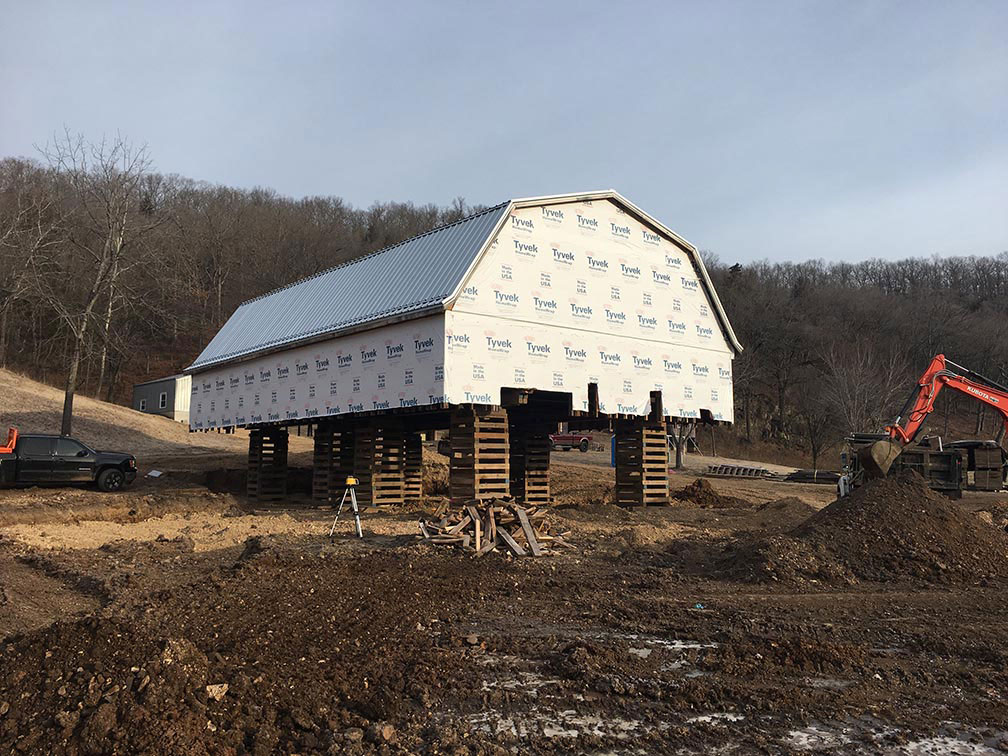 Barn under construction
