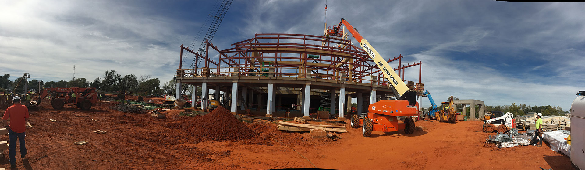 panoramic shot of construction