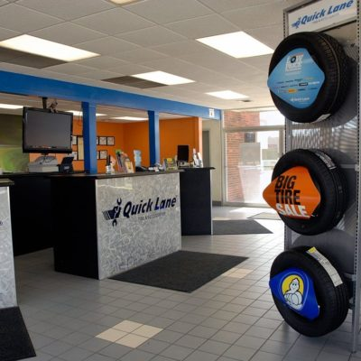 Auto center lobby and reception desks