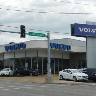 Volvo dealership front entrance